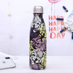 Stainless steel thermos bottle 500ml - 17 designs