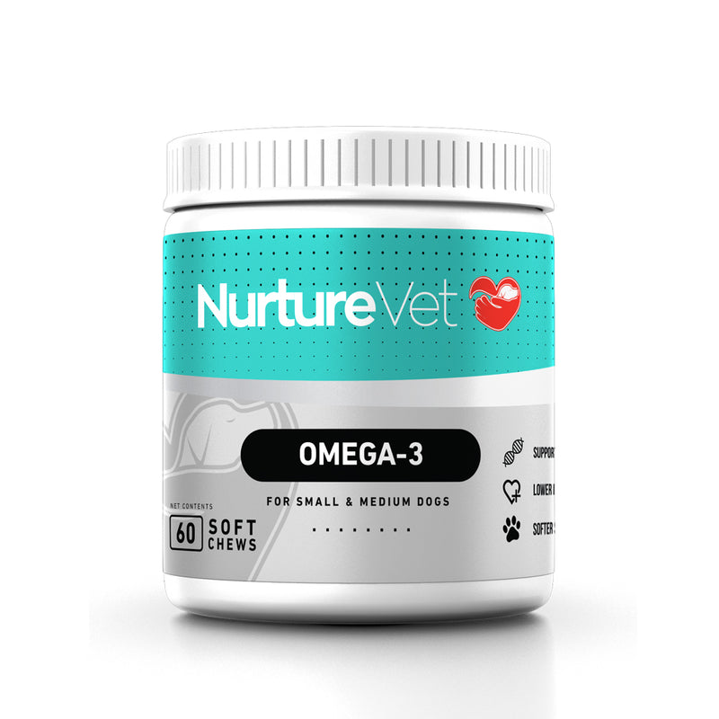 Omega-3 for Small/Medium Dogs - Fish Oil for Dogs - Dog Hot Spots -Joint Support