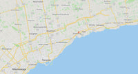 Map of Greater Toronto Area, Durham, York, and Peele Region