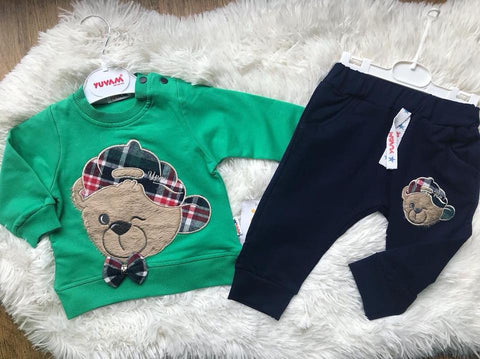 Long sleeve Bear  2 piece set