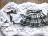 3 piece set with vest and skirt