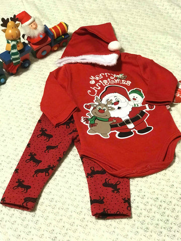 Christmas three pieces onesie