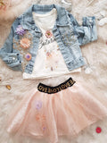 Jeans jacket set with Tutu skirt