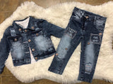 Jeans and jeans jacket set