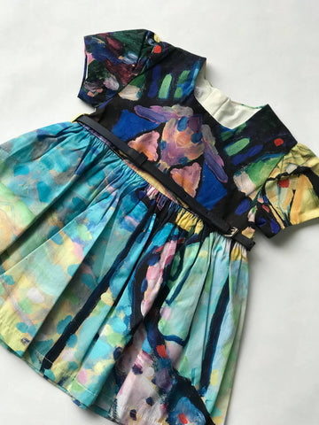 Painted short sleeve dress