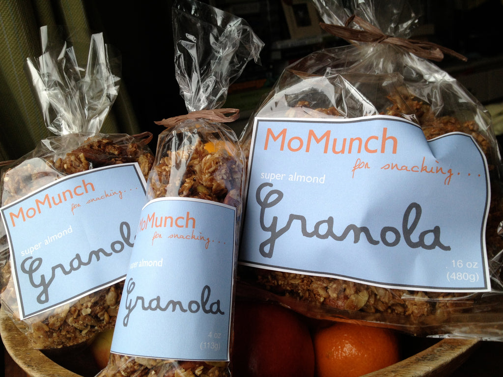 Bags of MoMunch Super Almond Granola