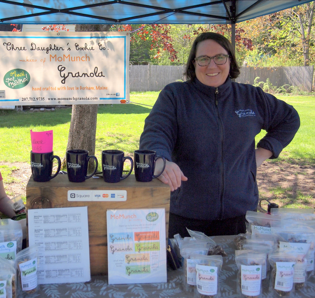 MoMunch Granola Owner attending local Farmers Markets