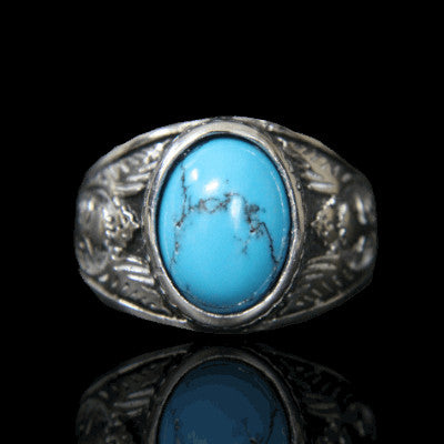 bague turquoise homme influent face