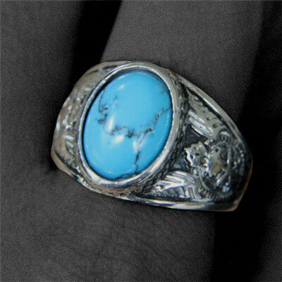 bague turquoise homme influent photo