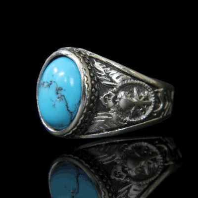 bague turquoise homme influent