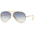 Ray-Ban RB3584N 3584 001/19 Blaze Aviator Sunglasses Light Blue/Clear Gradient L