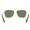 Ray Ban RB3610 001/71 Gold Sunglasses | Back View