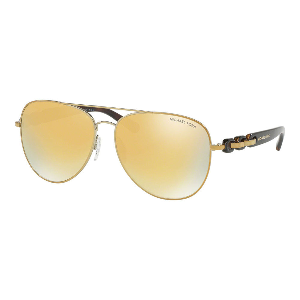 New Michael Kors MK1015 11297P Pandora Sunglasses Liquid Gold Lens