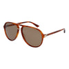New Authentic Gucci GG0015S 003 Havana Sunglasses Brown Lens