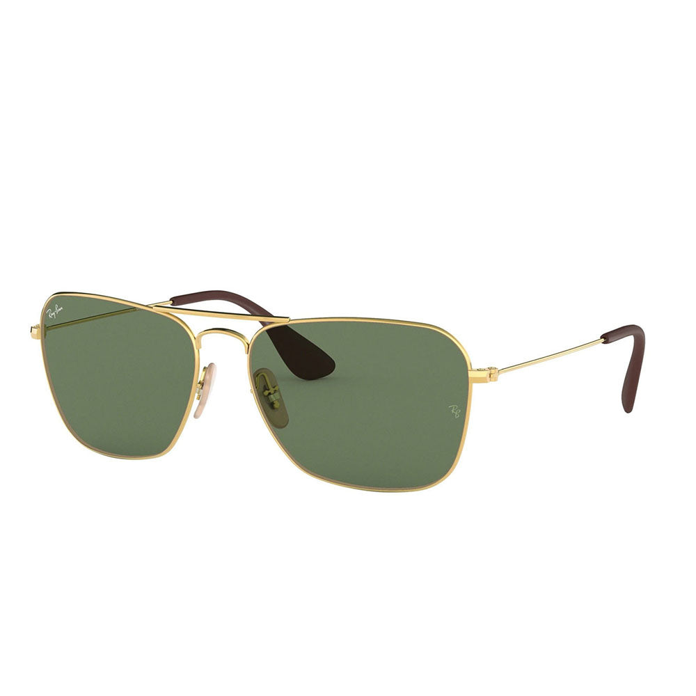 New Authentic Ray-Ban RB3610 001/71 Gold Sunglasses Green Classic Lens