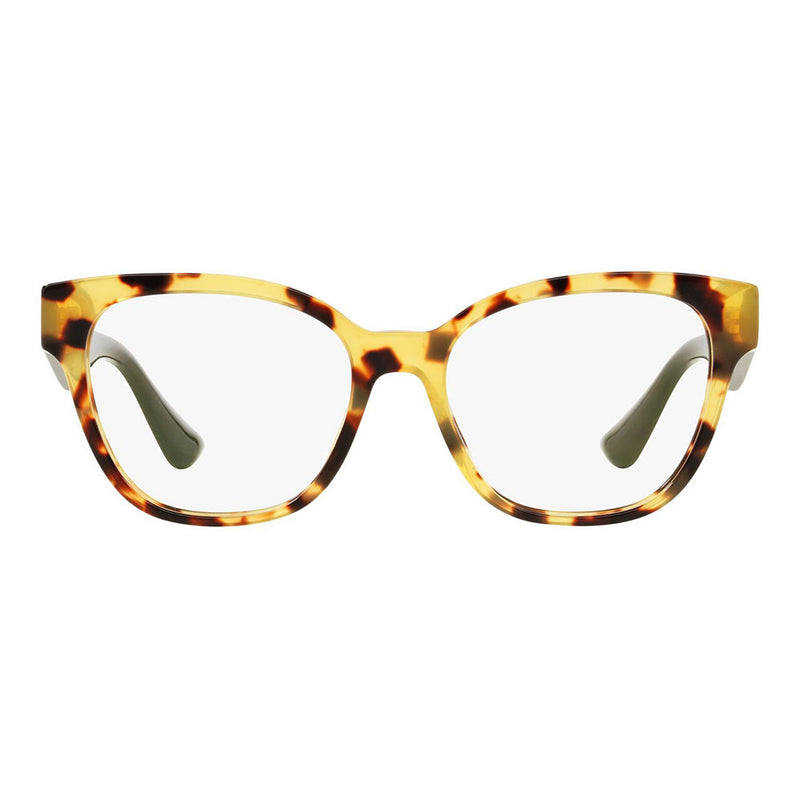 New Authentic Miu Miu MU06OV 7S01O1 Light Havana Eyeglasses Demo Lens