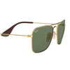 Ray Ban RB3610 001/71 Gold Sunglasses | Side View