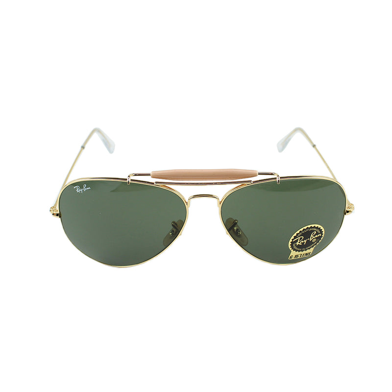 Authentic Ray-Ban RB3029 L2112 Outdoorsman II Sunglasses Green Classic B-15 Lens