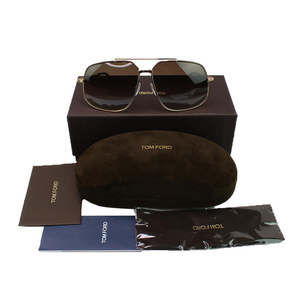 New Authentic Tom Ford FT0439 48F Ronnie Unisex Sunglasses Brown Gradient Lens