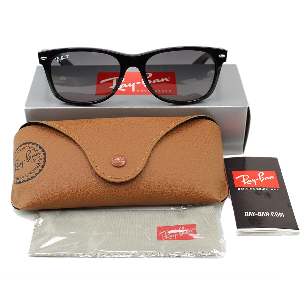 Ray-Ban RB2132 6406M3 Wayfarer Classic Sunglasses Grey Gradient Polarized Lens