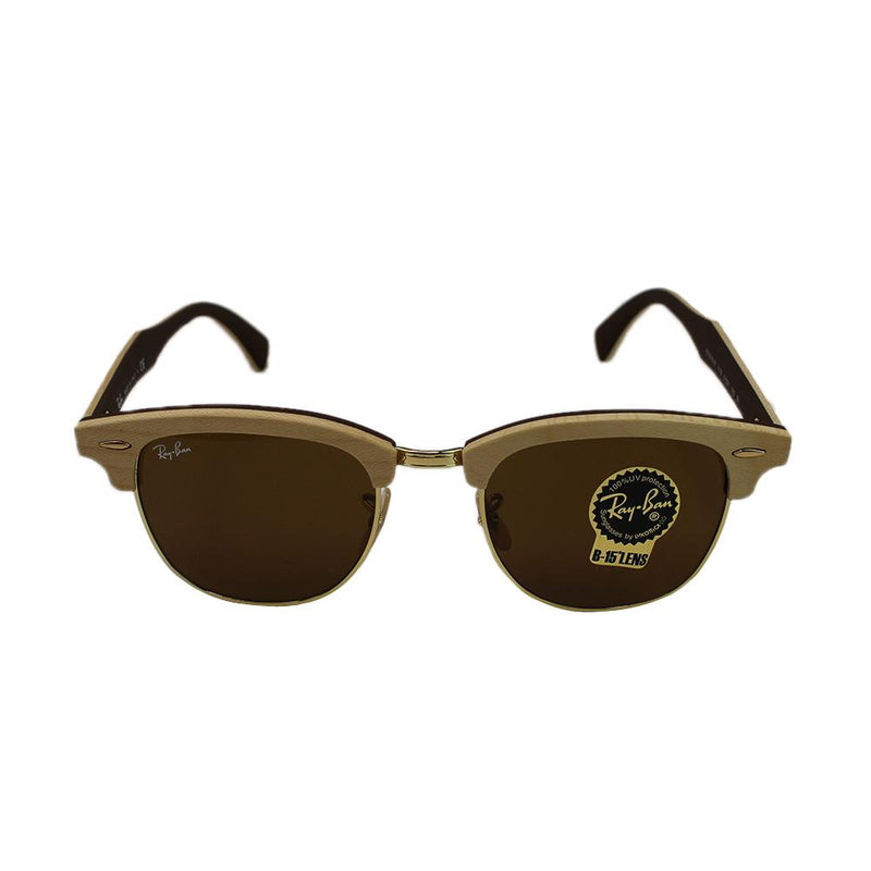 Rayban clubmaster wood sunglasses