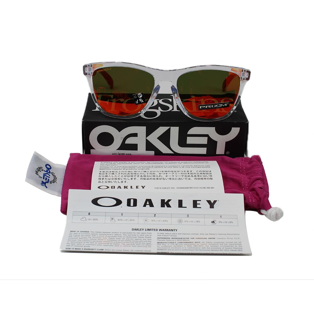 New Authentic Oakley OO9245-7354 Sunglasses Frogskins Asia Fit Prizm Ruby Lens