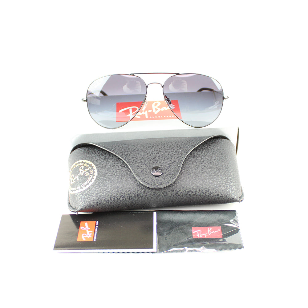 New Authentic Ray-Ban RB3558 002/8G 58MM Unisex Sunglasses Grey Gradient Lens