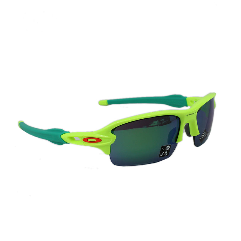 New Authentic Oakley OJ9005 0259 Flak XS (Youth Fit) Sunglasses Prizm Jade Lens
