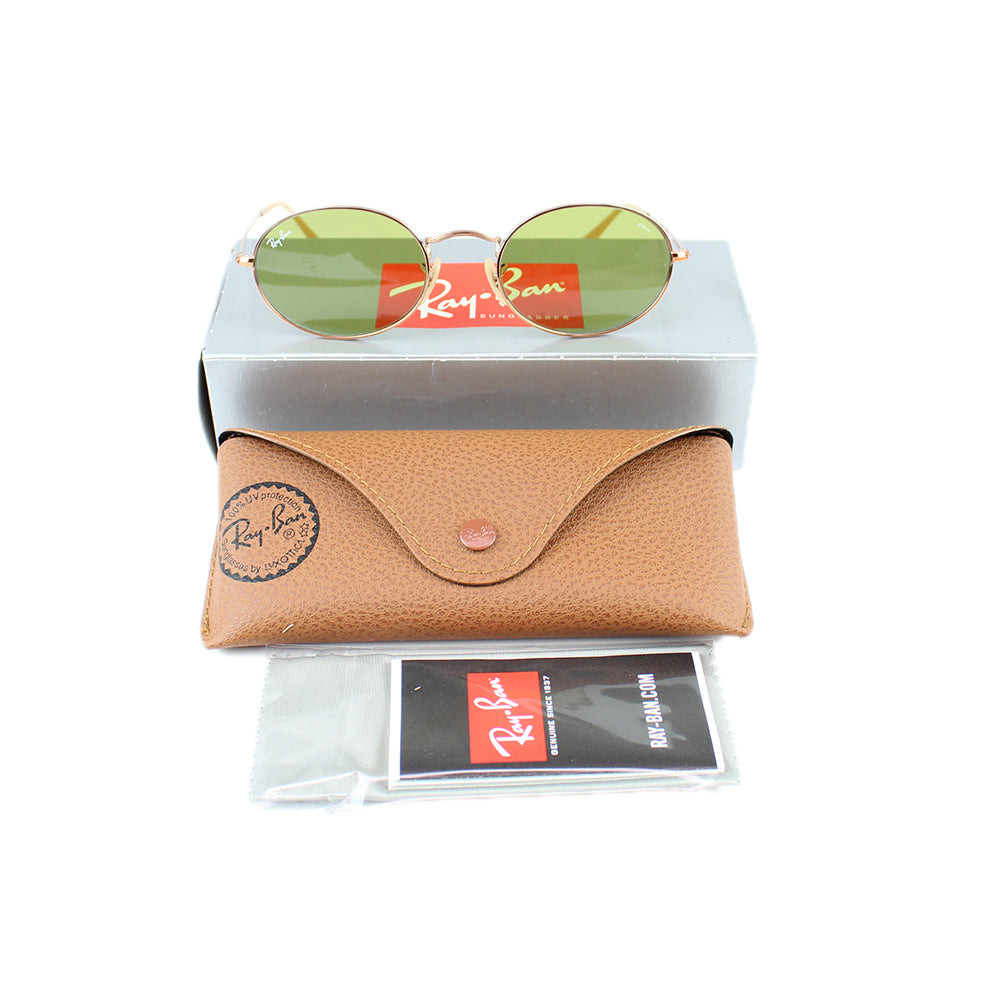 Authentic Ray-Ban RB3547N 9131/4C Oval Evolve Sunglasses Green Photochromic Lens