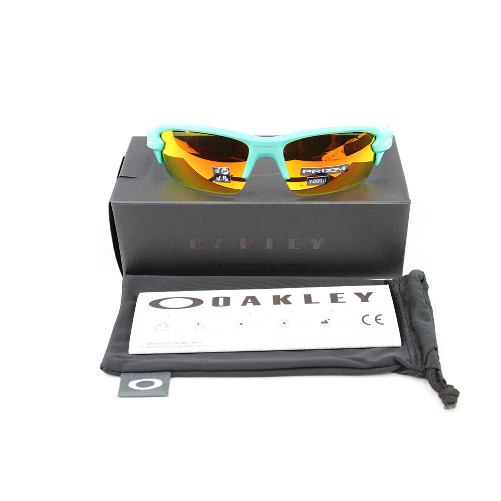 New Oakley OJ9005 0759 Flak XS (Youth Fit) Sunglasses Prizm Ruby Polarized Lens