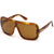 New Authentic Tom Ford FT0559 53E Blonde Havana Sunglasses Brown Lens