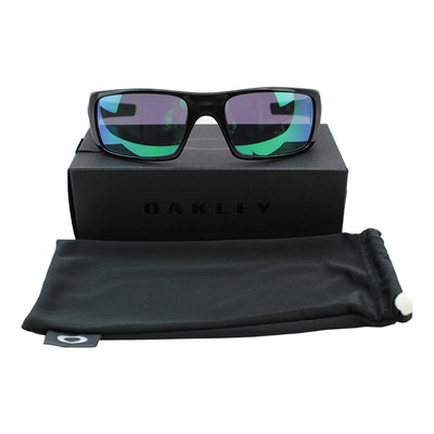Oakley Crankshaft Sunglasses Jade Iridium Mirrored Lenses