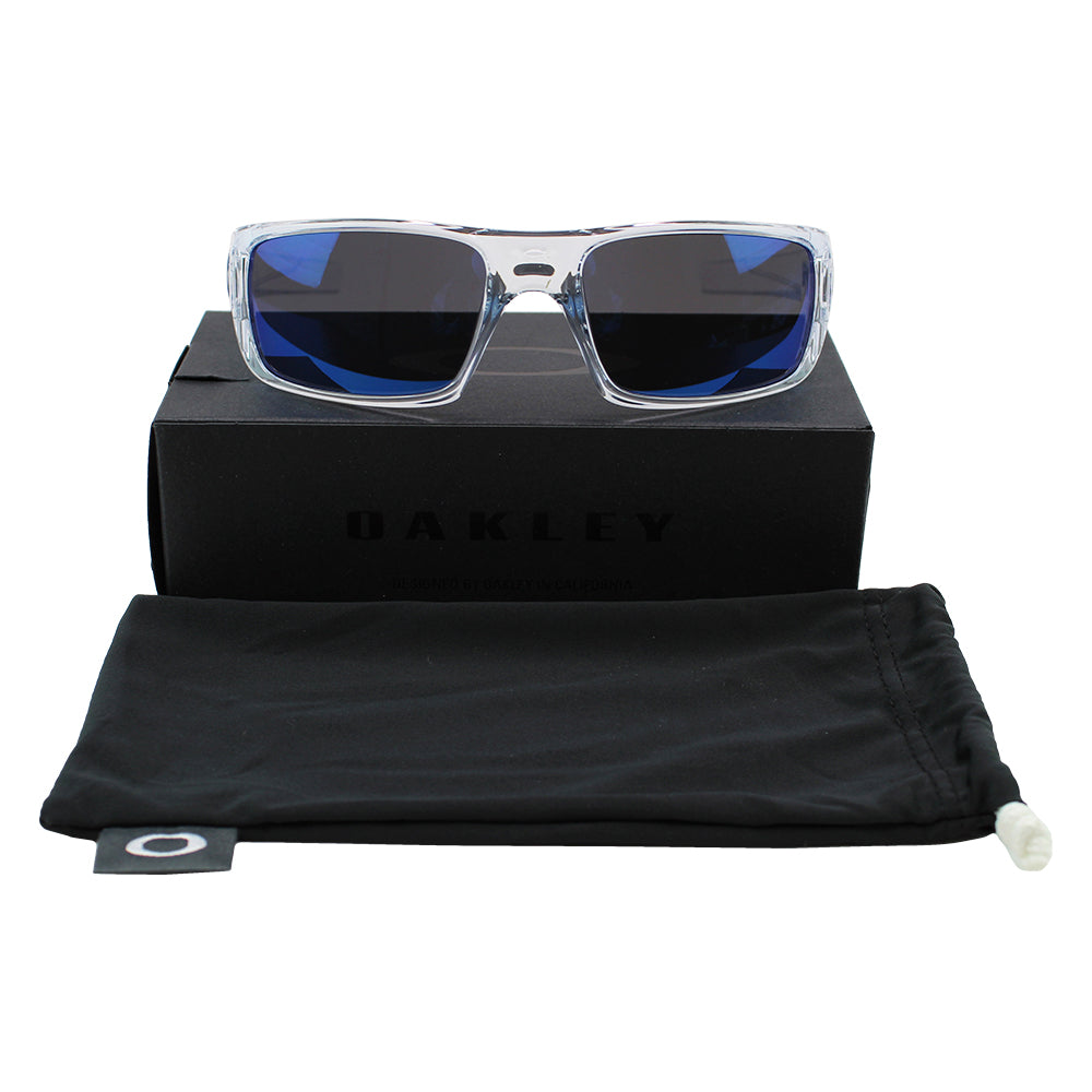 Authentic Oakley Sunglasses Polished Clear OO9239-04 Ice Iridium Mirrored Lenses