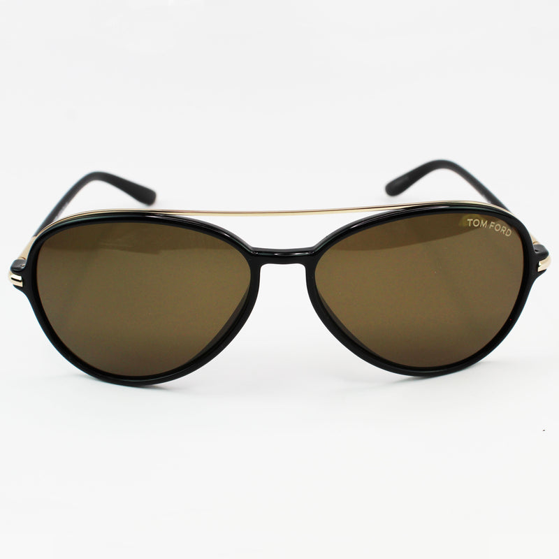 Tom Ford FT014901J58 Brown Polarized Mirror Lens in aviator style