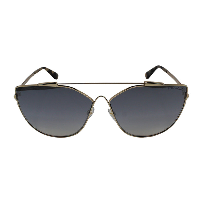 New Authentic Tom Ford FT0563 28C Jacquelyn Women Sunglasses Smoke Mirrored Lens