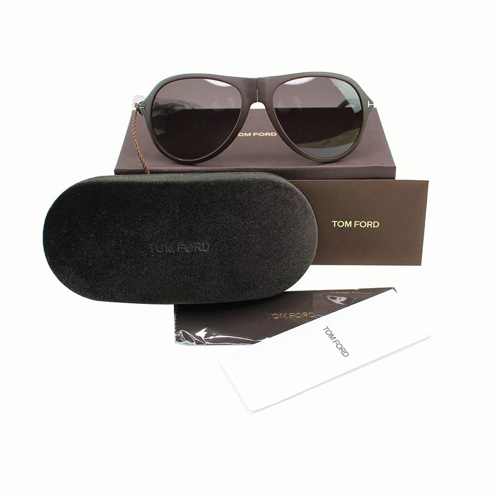 New Tom Ford TF0381 60B Dalton Unisex Sunglasses Smoke Gradient Polarized Lens