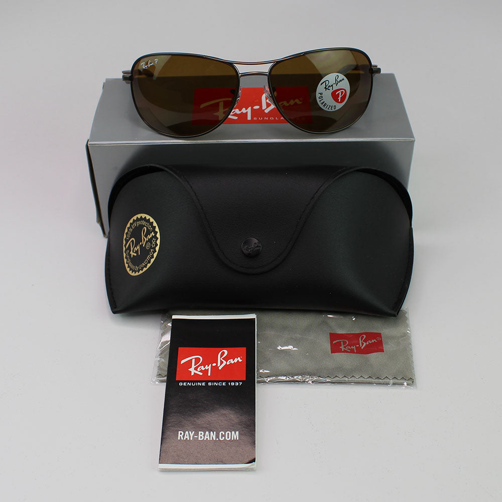 New Authentic Ray-Ban RB3519 029/83 Men Sunglasses Brown Polarized Lens