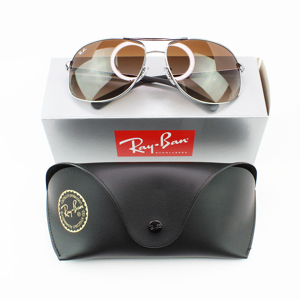 New Authentic Ray-Ban RB3387 004/13 Sunglasses Brown Gradient Lens