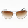 Ray Ban RB3387 004/13 64 Gunmetal Aviator Sunglasses | Front View