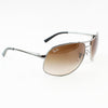 Ray Ban RB3387 004/13 64 Gunmetal Aviator Sunglasses | Side View