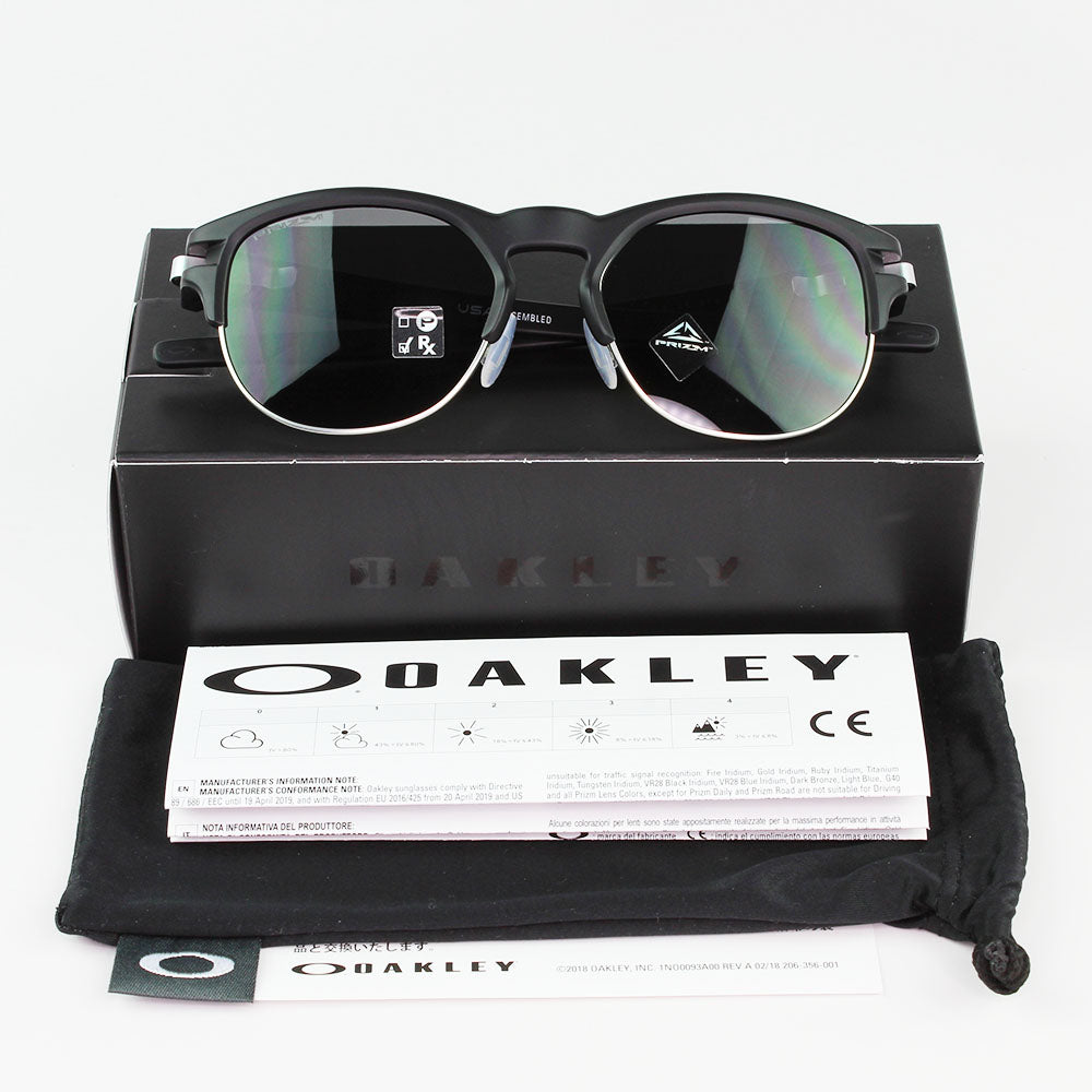 New Authentic Oakley OO9394 01 Latch Key Sunglasses Prizm Black Lens