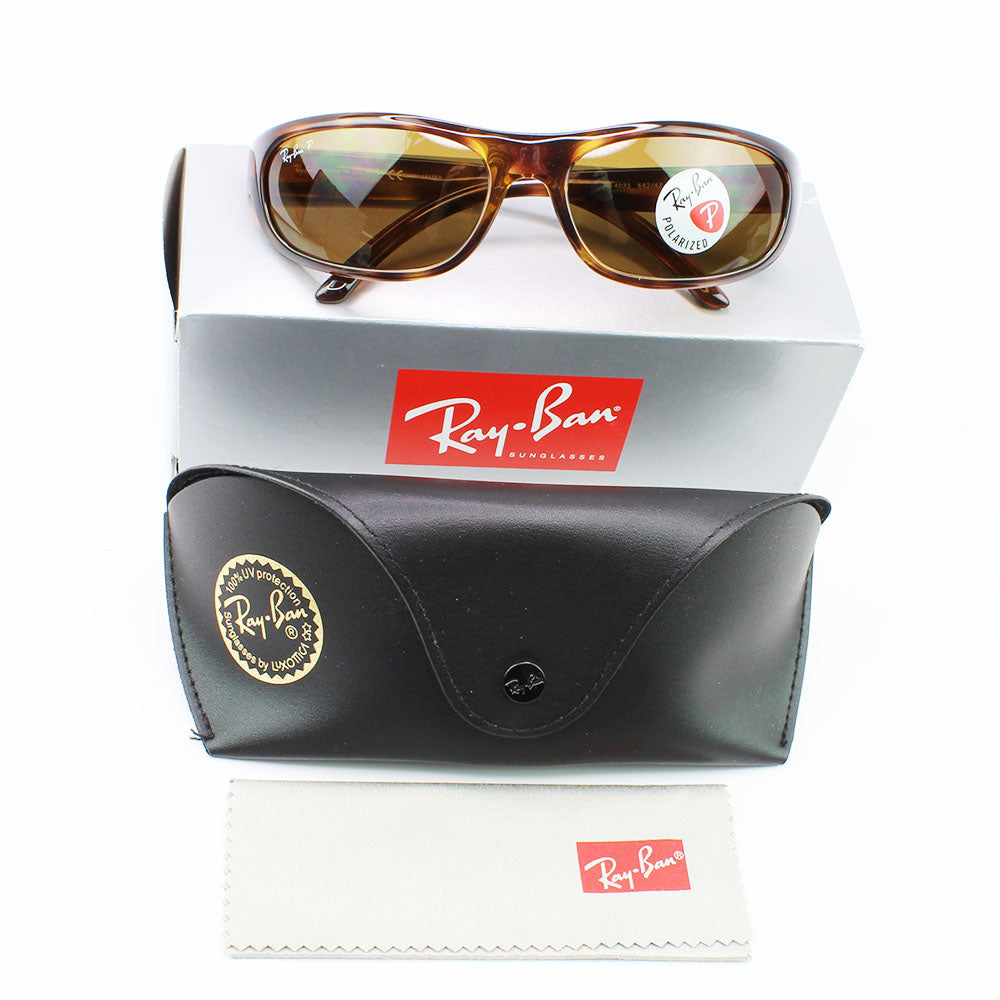 Ray-Ban RB4033 642/47 60MM Predator Sunglasses Havana Brown