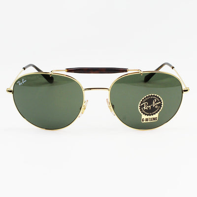 Ray Ban RB3540 001 56 Green Classic Sunglasses | Front View