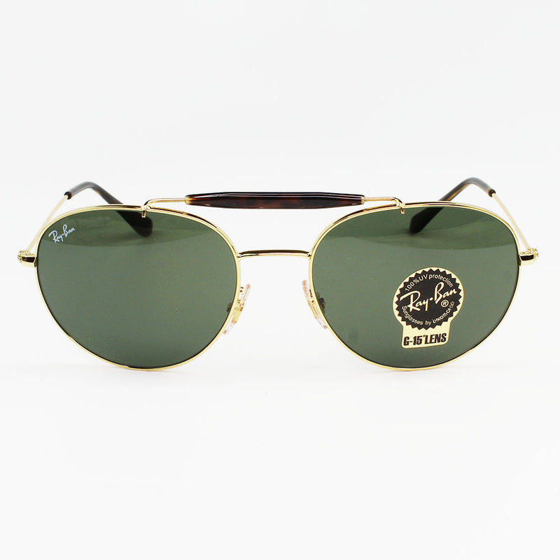 New Authentic Ray-Ban RB3540 001 Sunglasses Green Classic G-15 Lens
