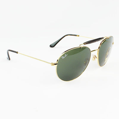 Ray Ban RB3540 001 56 Green Classic Sunglasses | Side View