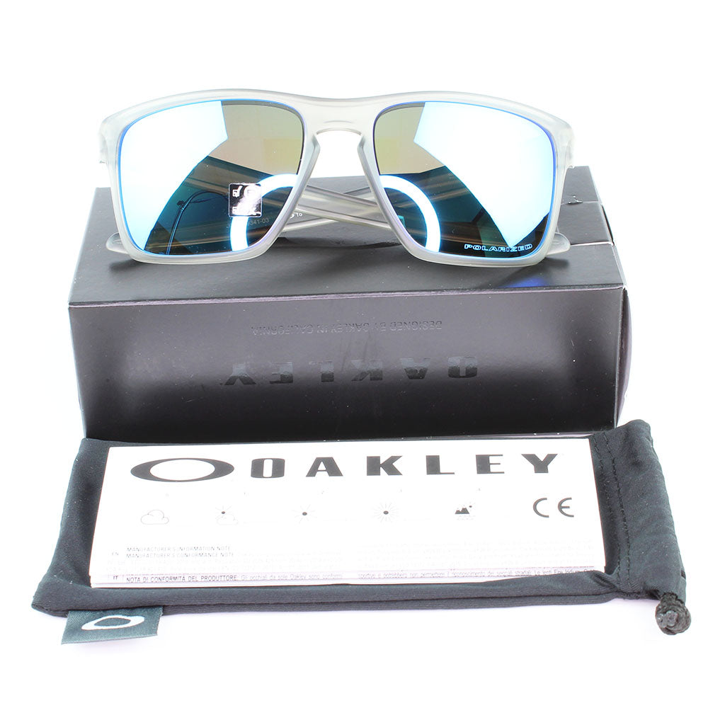 Authentic Oakley OO9341-03 Sliver XL Sunglasses Sapphire Iridium Polarized Lens