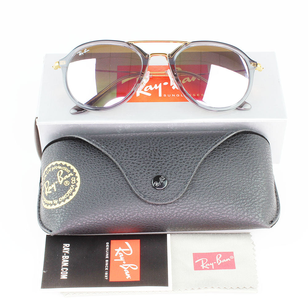 New Authentic Ray-Ban RB4253 62377X Sunglasses Lilac Flash Gradient Lens