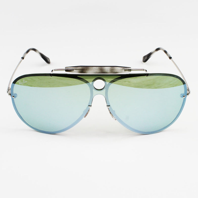 Ray-Ban RB3581N 003/30 Blaze Shooter Sunglasses Green Silver Mirror Lens