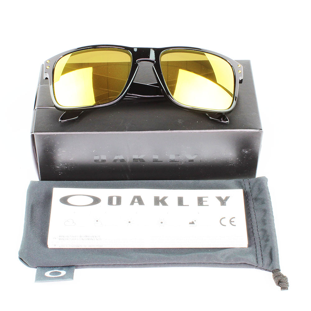 New Authentic Oakley OO9102 E3 Holbrook Sunglasses 24K Iridium Lens