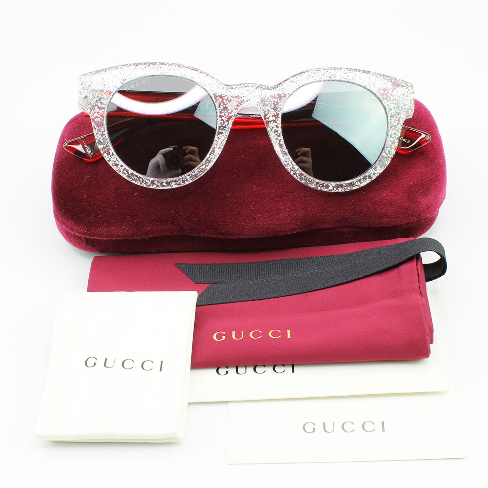 New Authentic Gucci GG0002S 005 Sunglasses Grey Lens